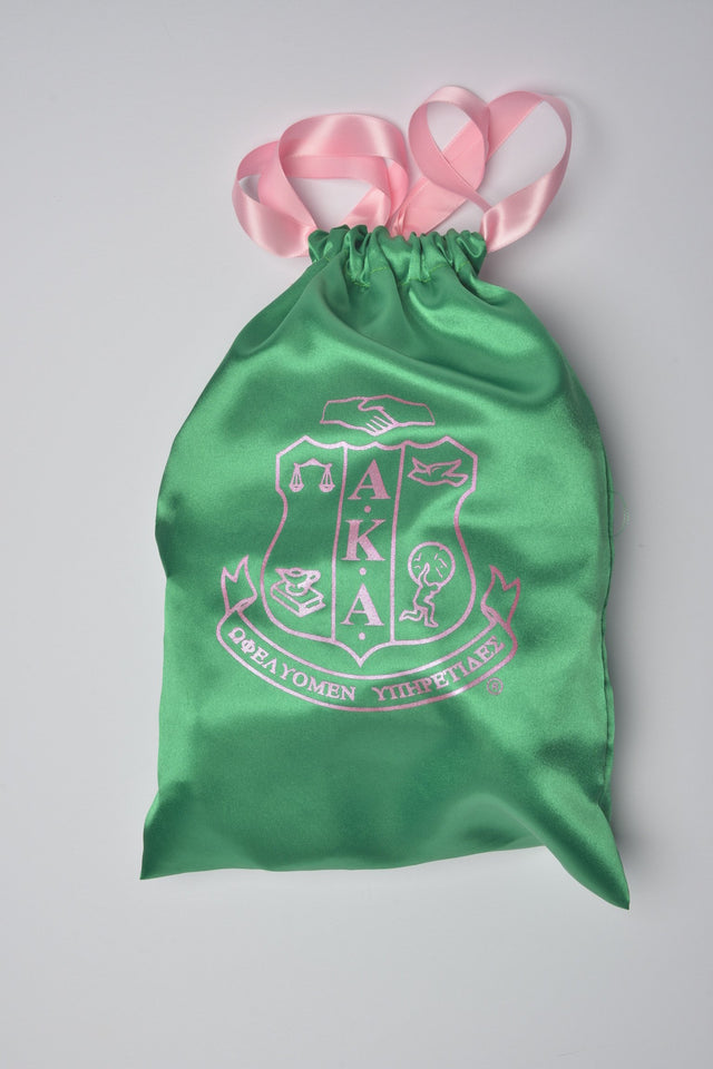 AKA Green Shield Drawstring Shoe Bag