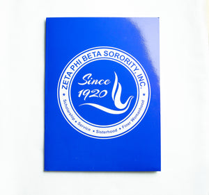 Zeta Phi Beta Seal Folder