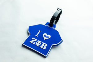 Zeta Phi Beta T-Shirt Luggage Tag