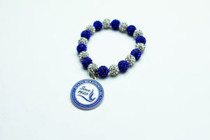 Zeta Phi Beta Bling Bracelet with Round Zeta Charm