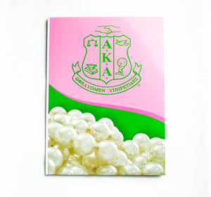AKA Shield with Pearls Folder