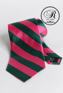 AKA Pink and Green Neck Tie