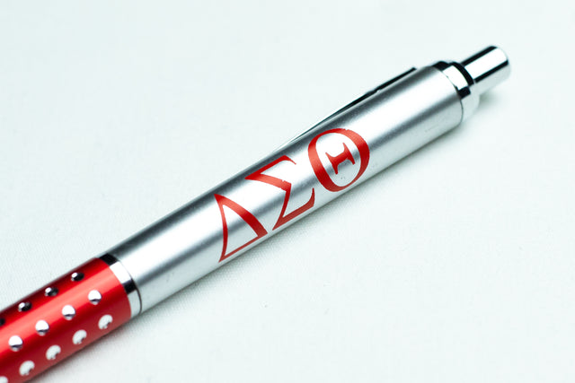 Delta Sigma Theta Silver and Red Ink Pen