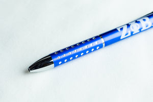 Zeta Phi Beta Vegas Blue Ink Pen
