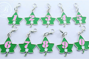 Ivy Leaf Number Charm