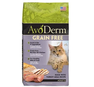 AvoDerm Grain Free Duck & Turkey Dry Cat Food 5lbs