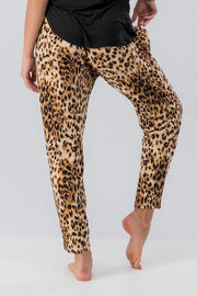 Leopard Animal Print Joggers with Pockets