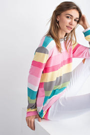 Unicorn Stripe French Terry Top