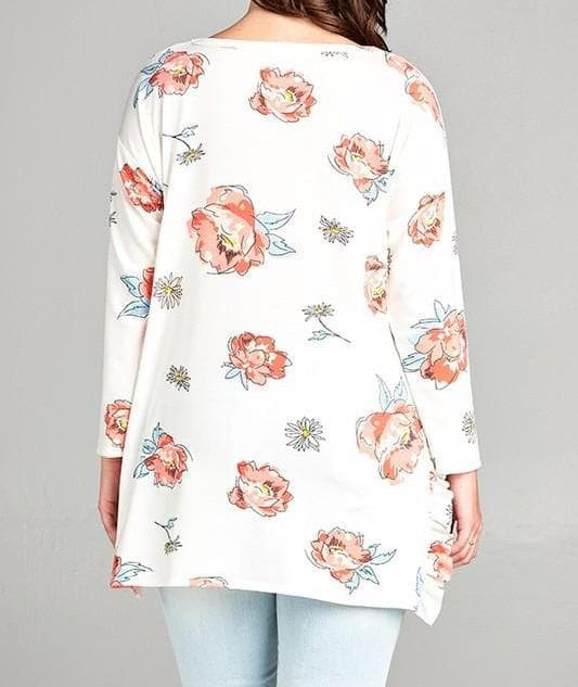 Plus Size Sweet Rose French Terri Top