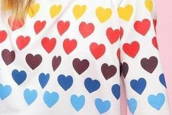 Color My Heart Long sleeve Top