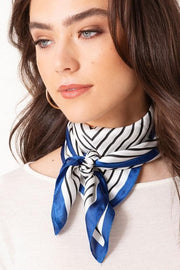 Striped Print Square Scarf