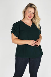 Plus Size Short Sleeve with Shirring Top