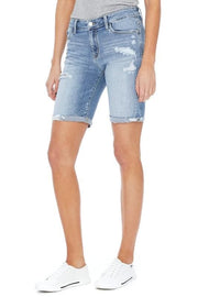 Judy Blue Plus Size Destroyed Bermuda Shorts
