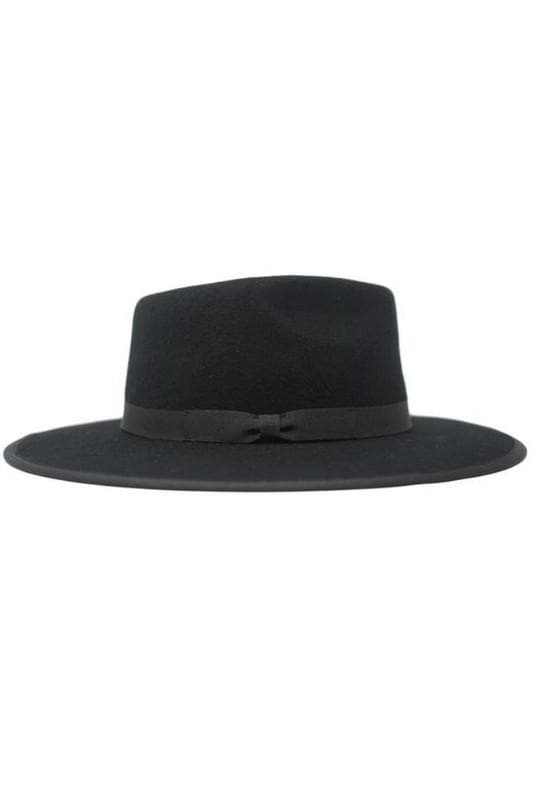 Wide Brim Fedora Hat with Satin Lining