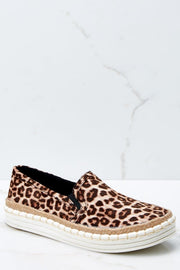 Soda Leopard Espadrille Slip On Sneakers