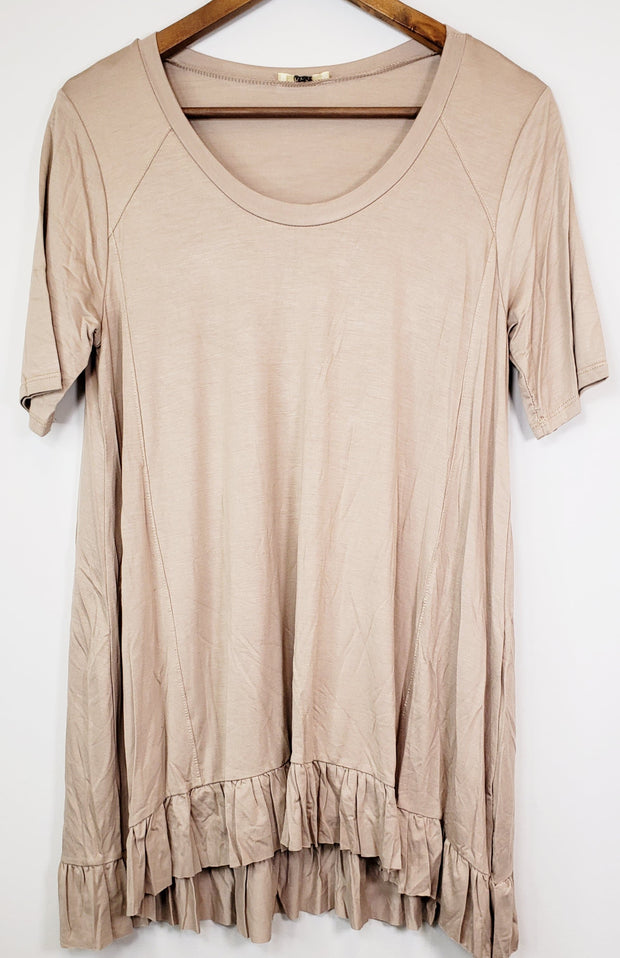 A Line with Bottom Frill T-Shirt