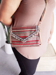 Hot Trendy Bohemian Princess Clutch with Long Strap