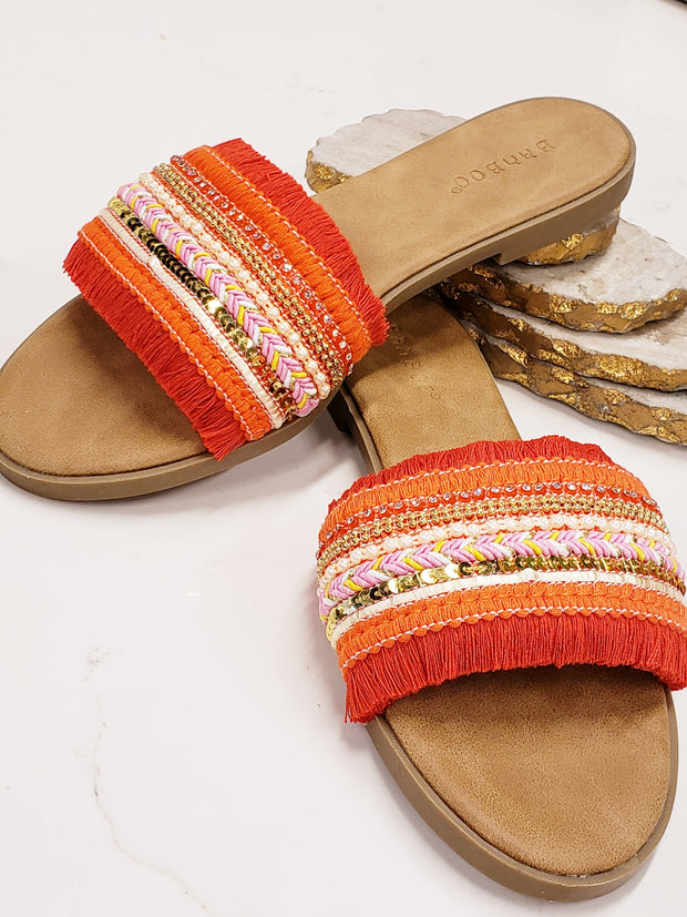 Antique Lacy Mules Sandals for Women