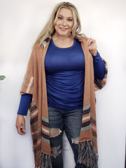 Easel - Mercer Hooded Kimono Inspired Cardigan (S-3XL)