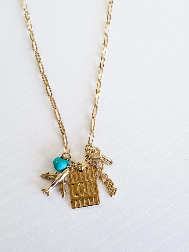 Love to Travel Gold Necklace