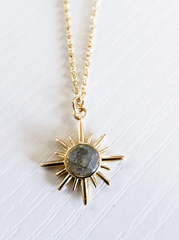 Gold Necklace With Moonstone
