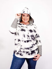 Tie-Dye Hoodie Sweater with Pockets
