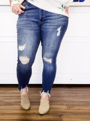 Judy Blue - Plus Size Ankle Bite Skinny Jeans