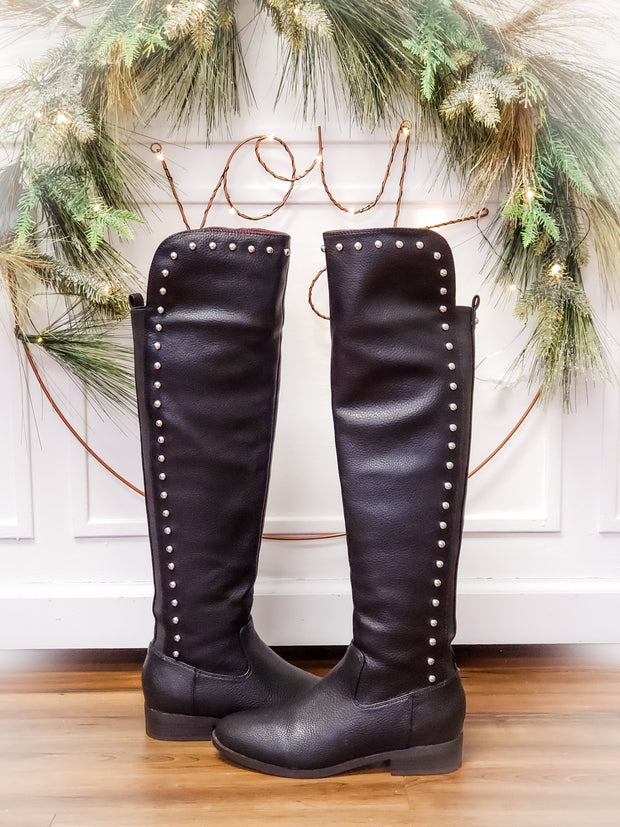 Sybelle Over The Knee Studded Boots