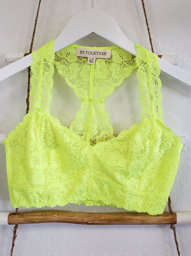 Racerback High Quality Lace Bralette