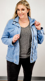 Judy Blue - Denim Utility Jacket