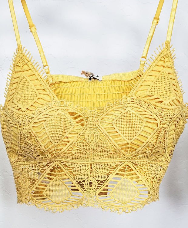Removable Pad Crochet Bralette