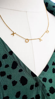 XOXO Necklace in Gold or Silver