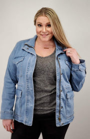 Judy Blue - Plus Size Denim Utility Jacket