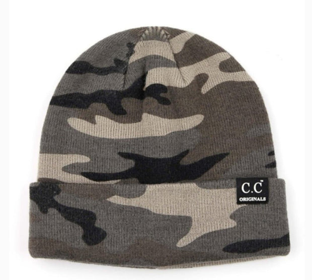 Knitted Camouflage Unisex Skully Beanie