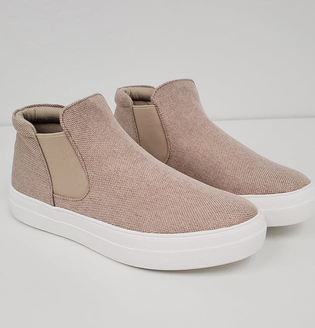 Woods High Top Slip-On Sneakers