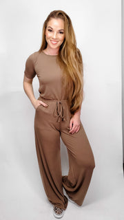 Short Sleeve Jumpsuit (S-3XL)