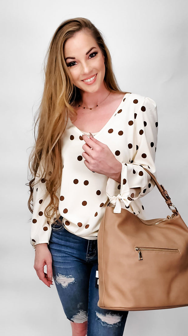 Jordan Polka Dot Long Sleeve Top