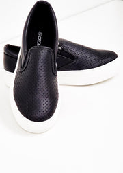 Croft Faux Leather Slide on Sneaker