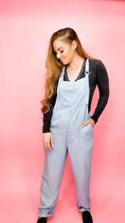 Easel - Juniper Chambray Jumpsuit