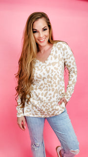 Leopard Print Knit Top