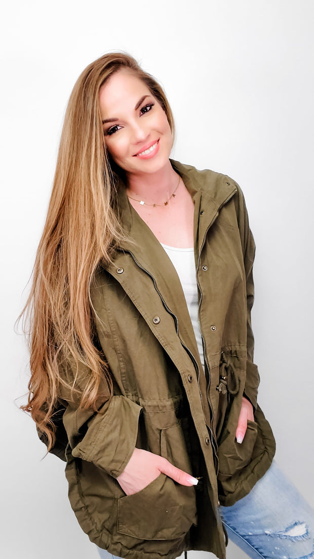Easel - Avery Oversize Hooded Jacket