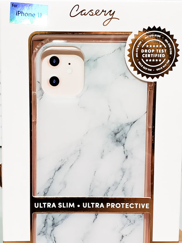 New White Marble iPhone Case (6s plus,7,8,11, 11ProMax)