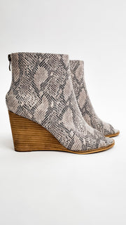 Peep Toe Chelsea Wedge Booties