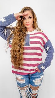 Vintage Americana Knit Sweater (S-3XL)