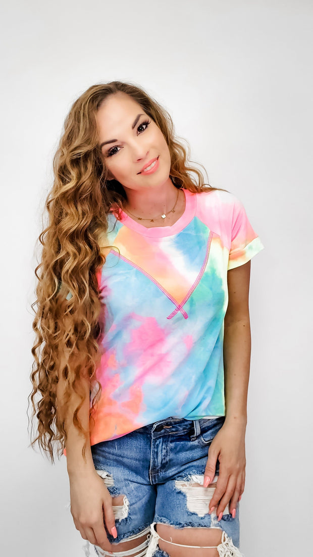 Tie-dye Printed French Terry Knit Top (S-3XL)