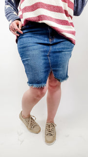 Judy Blue - Cut-Off Denim Skirt (S-3XL)