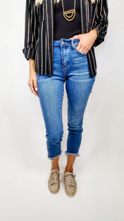 Judy Blue - Against the Grain Non Distressed Skinny Jeans (0-24W)