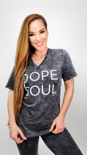 Dope Soul V-Neck Graphic Tee (S-3XL)