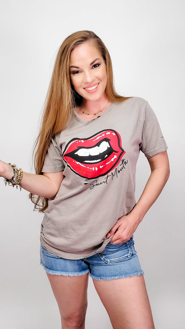 Smart Mouth Destroyed Graphic Tee (S-3XL)