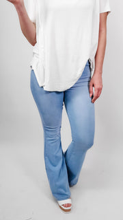 C'est Toi Tricot - Magic Mid Rise Flare Jeans ( Jeggings )
